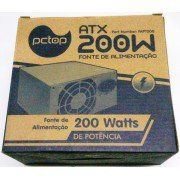 Fonte Atx 200w Real 20+4 Pinos Fapt200 C/ Cabo E Caixa (2 Satas)