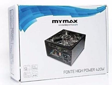 Fonte Atx 420w Real 24 Pinos 2 Sata High Power