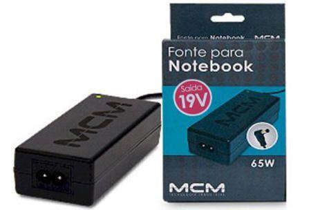 Fonte P/ Notebook Compativel Mcm 19v 3.42a - Pr 893 - P/ Hp Business, Pavilon, Presario E Etc. - Fon0893-Rs-V