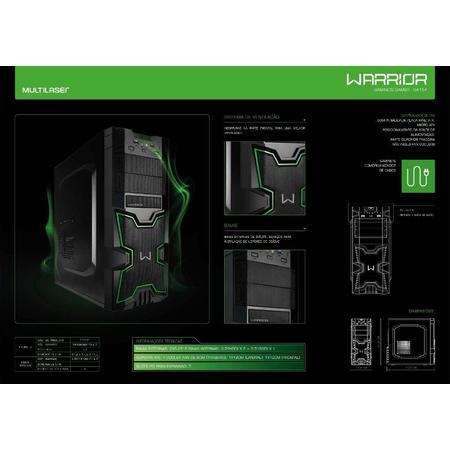 Gabinete Gamer Warrior Verde GA154