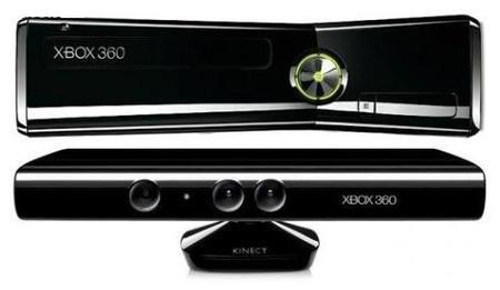Game Xbox 360 Slim 4gb Puro C/ Kinect E C/ Jogo .
