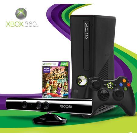 Game Xbox 360 Slim 4gb Puro C/ Kinect E C/ Jogo (Desbloqueado) .