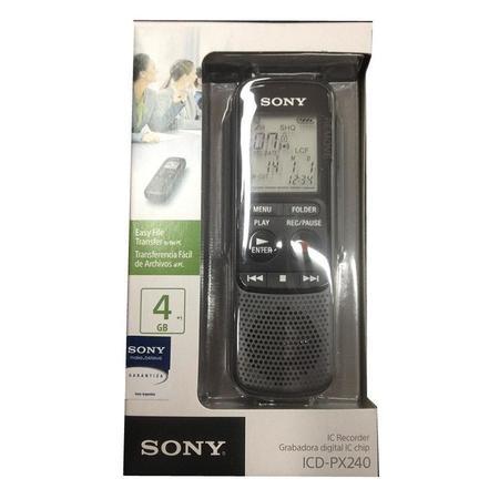 Gravador Digital Mini Sony Icd- Px240 Black