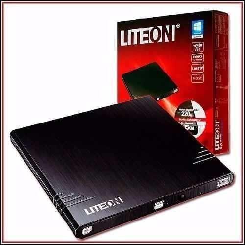 Gravador Externo Dvd+Rw Usb Liteon Ebau108 Slim 8x Preto