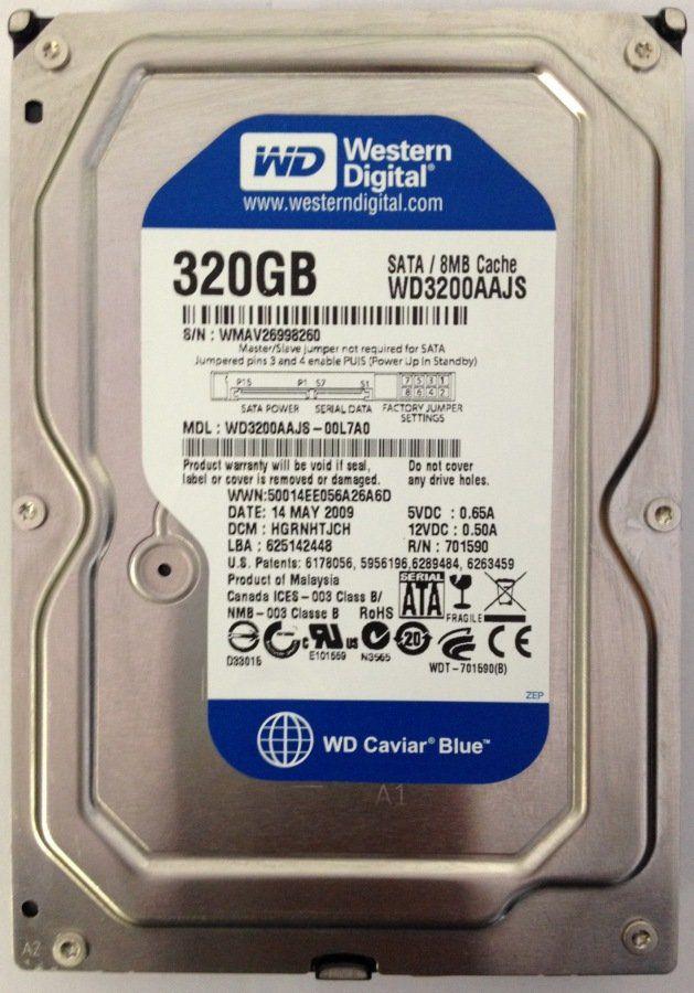 Hd Sata2 320gb Western Digital *