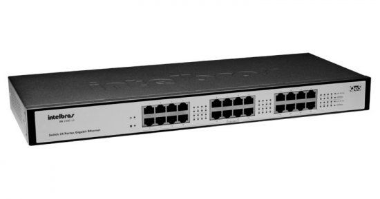 Hub 24p. Intelbras 10/100/1000 Sg2400qr Gigabit Qos (Rack)