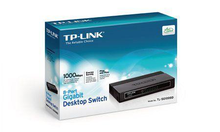 Hub 8p. 10/100/1000 Tp-Link Tl-Sg1008d Switch