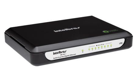 Hub 8p. Intelbras 10/100/1000 Sg800c Gigabit Ethernet Com Qos *' Intelbras