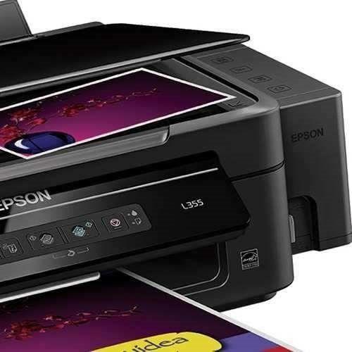 Impressora Epson Multificional L355 (Imprimi, Copia E Digitaliza) Bulk-Ink Original