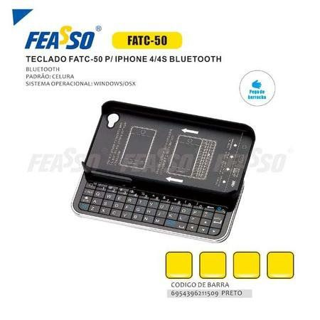 Iphone 4/4s Teclado Bluetooth Feasso Fatc-50