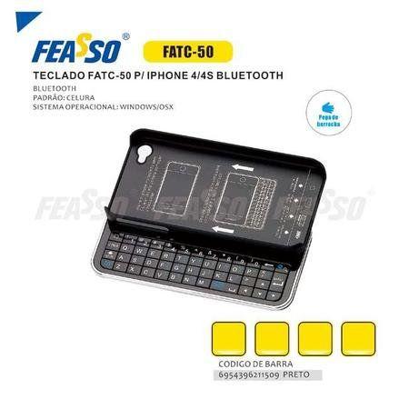 Iphone 4/4s Teclado Bluetooth Feasso Fatc-50