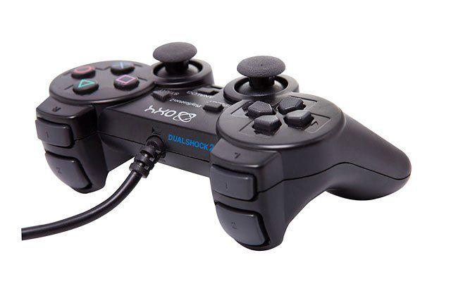Joystick Controle Vibra Emborrachado Dual Shock Ps2 ()