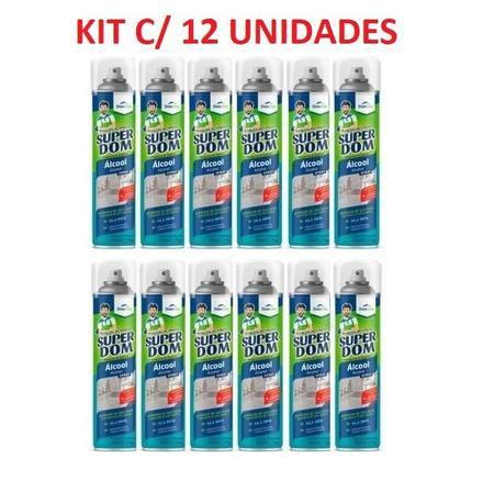 Kit Combo c/ 12x Alcool Spray 66,6% 400ml Super Dom