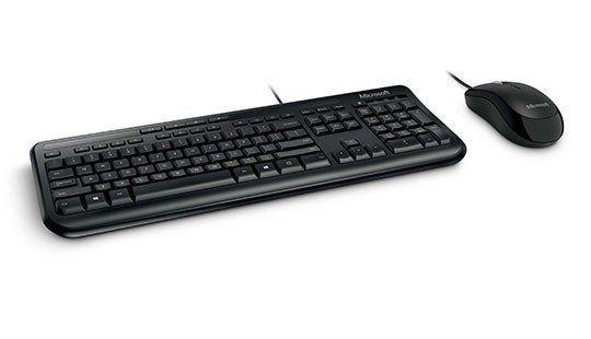 Kit Microsoft Teclado E Mouse Wired Desk 600