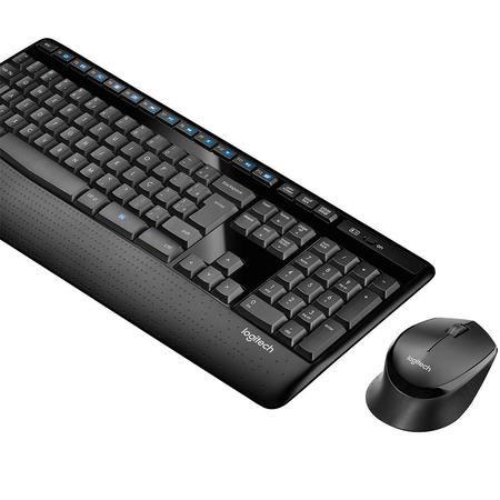 Kit Teclado e Mouse Wireless MK345 Multimidia C/ Apoio