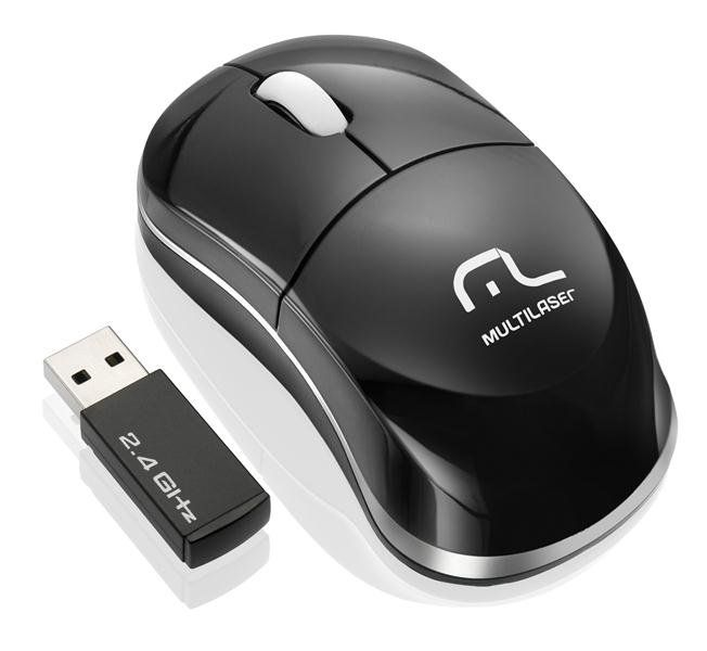 Kit Teclado+Mouse S/ Fio Multilaser Multimidia Usb Preto 2.4ghz Tc120 Multilaser