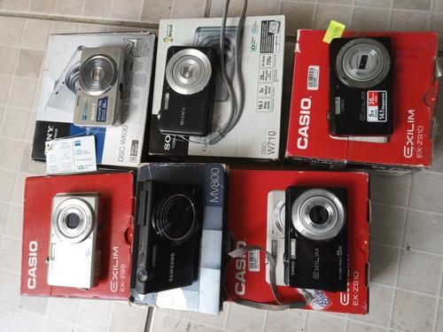 Lote 6 Câmeras Digital Com Defeito
