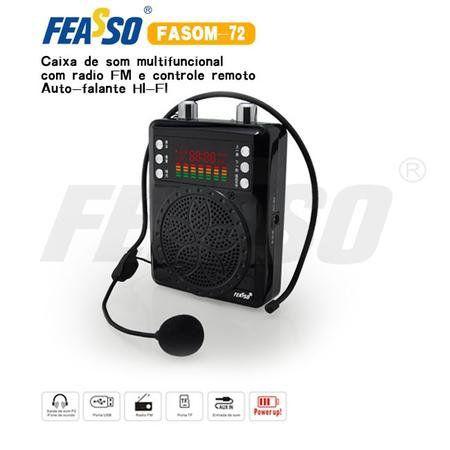 Mini Megafone Digital Fasom-72 Preto