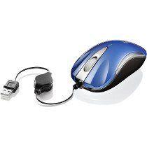 Mouse Mini Optico Retratil Usb Feasso Azul Famm-05