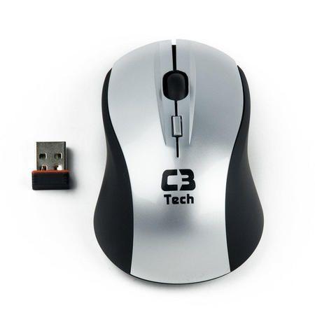 Mouse Optico Usb S/ Fio M-W012-Bk Preto C3tech