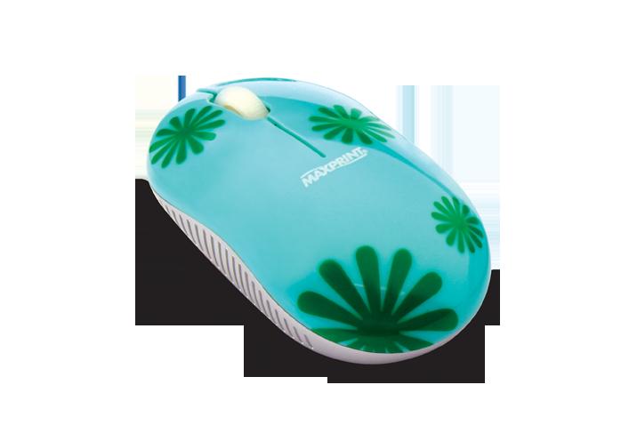 Mouse Optico Usb Verde Florido Ref. 60 7536