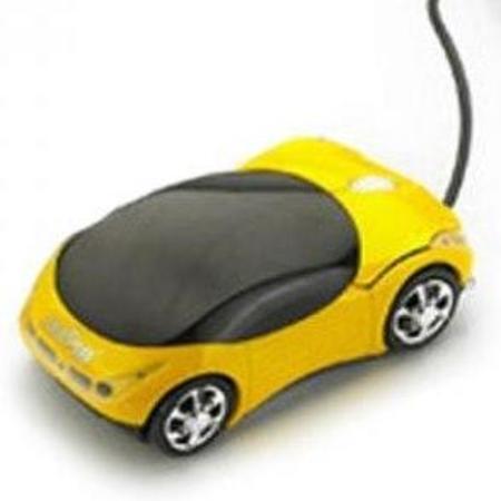 Mouse Usb Feasso Optico Carrinho Amarelo Famo-10