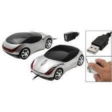 Mouse Usb Feasso Optico Carrinho Prata Famo-10