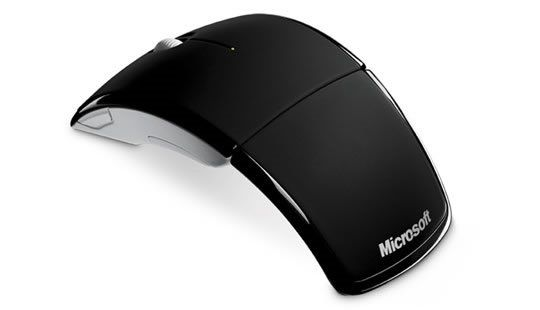 Mouse Wireless Microsoft 2 Botoes Laser Scroll S/ Fio Arc Mouse Preto