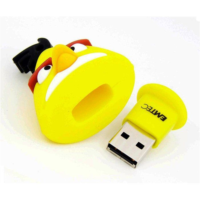 Pendrive Angry Birds Passaro Amarelo 8gb Emtec