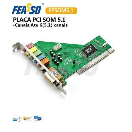 Placa De Som Pci 5.1 Game Port Fpsom 5.1