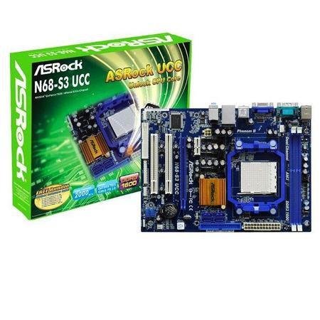 Placa Mae Amd Am3 Asrock N68-S3 Fx/Cx Som/Video/Rede Ddr3