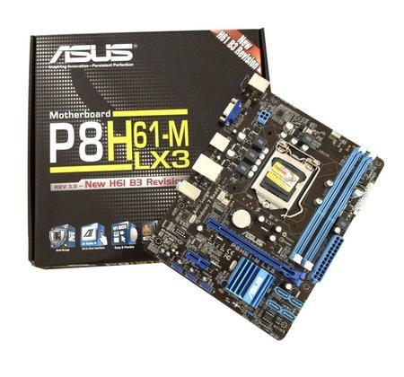 Placa Mae Intel 1155p Asus P8h61-M Lx3 6usb Som/Gblan/Sata/Vga/Ddr3
