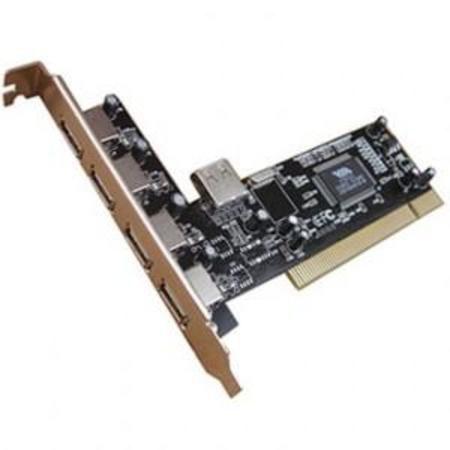 Placa Pci Usb 2.0 Com 4+1 Conectores Usb 2.0