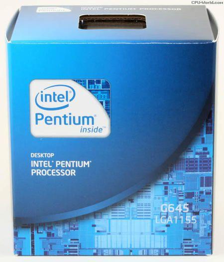 Processador Intel 1155p Pentium Dc G645 2.9ghz 3m *Box*