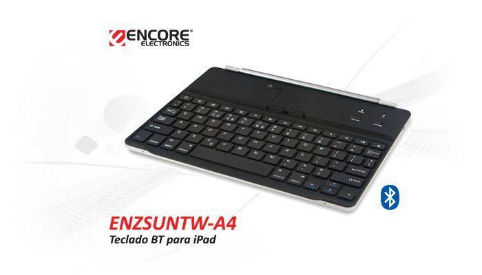Teclado Bluetooth P/Ipad Preta - Enzsuntw-A4blk