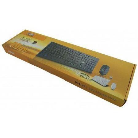 Teclado E Mouse Multimídia S/Fio Preto Fatc-30