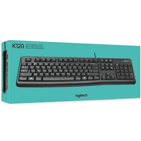 Teclado Logitech USB K120 Preto