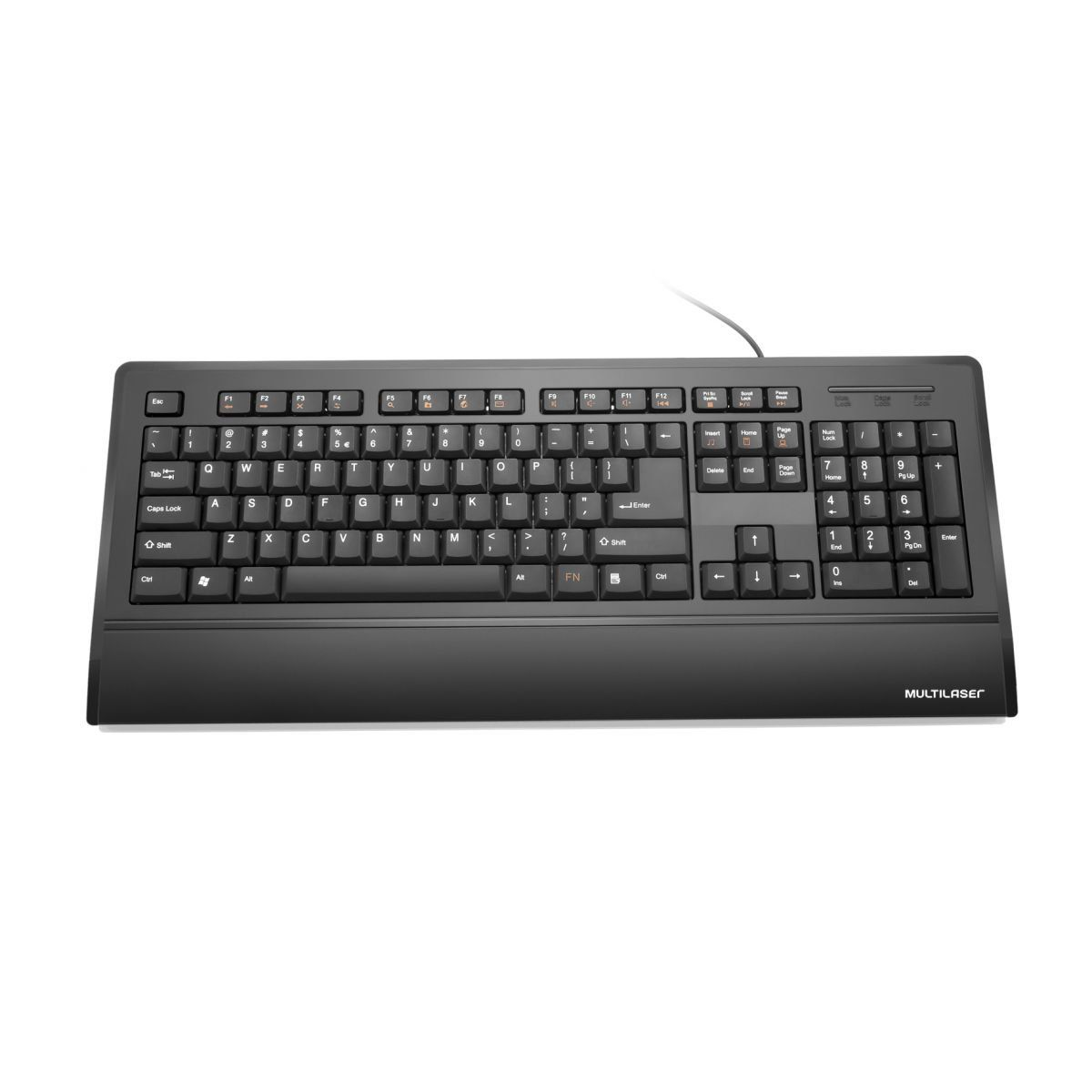 Teclado Super Multimidia Multilaser Slim Preto Tc128