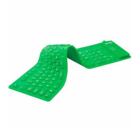 Teclado Usb Flexivel Verde Ref.60 3162
