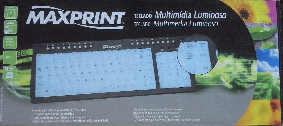 Teclado Usb Multimidia (Luminoso) Ref. 60 3751
