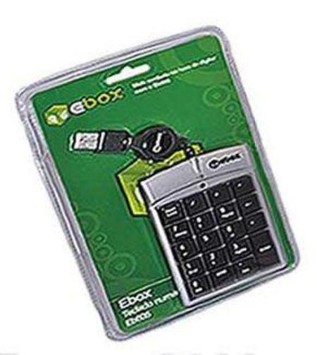Teclado Usb Numerico Notebook Flexivel Preto Fatc-07 ()