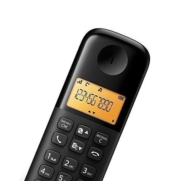 Telefone S/Fio Preto D1301b/44