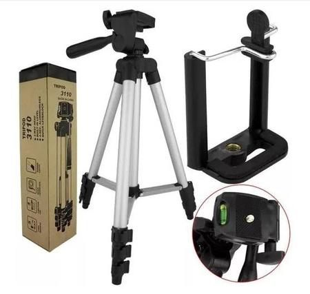 Tripé Câmera E Celular Profissional Universal Flexível 1,0mt