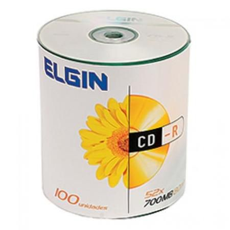 Tubo Cd-R 100uni 52x 700mb 80min Elgin