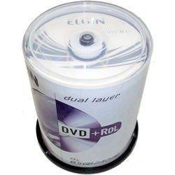 Tubo Dvd+R Dl 100uni 8x 8,5gb 240min Printable