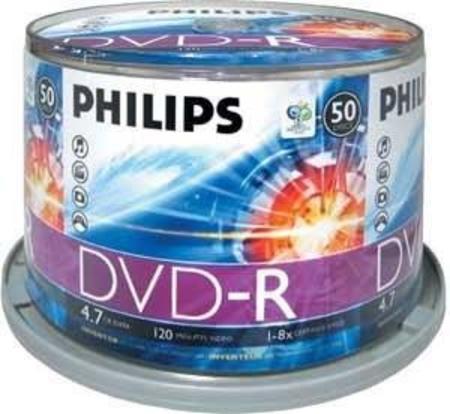 Tubo Dvd-R (Printable) 50uni 8x 4.7gb 120m** Philips