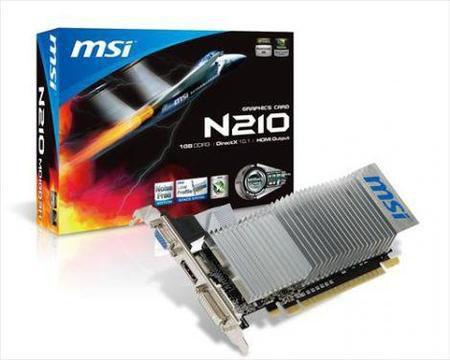 Vga Pci Exp. Gf G210 1GB Msi Ddr3 64Bit N210-Md1Gd3H/Pl
