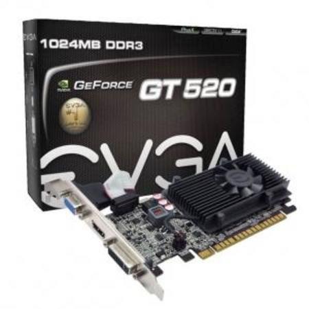 Vga Pci Exp. Gf Gt520 1gb Evga Ddr3 64bit Dvi/Hdmi/Directx 11