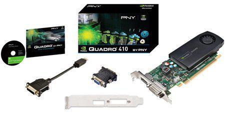 Vga Pci Exp. Quadro 410 512mb Ddr3 Dvi/Dp Low Profile
