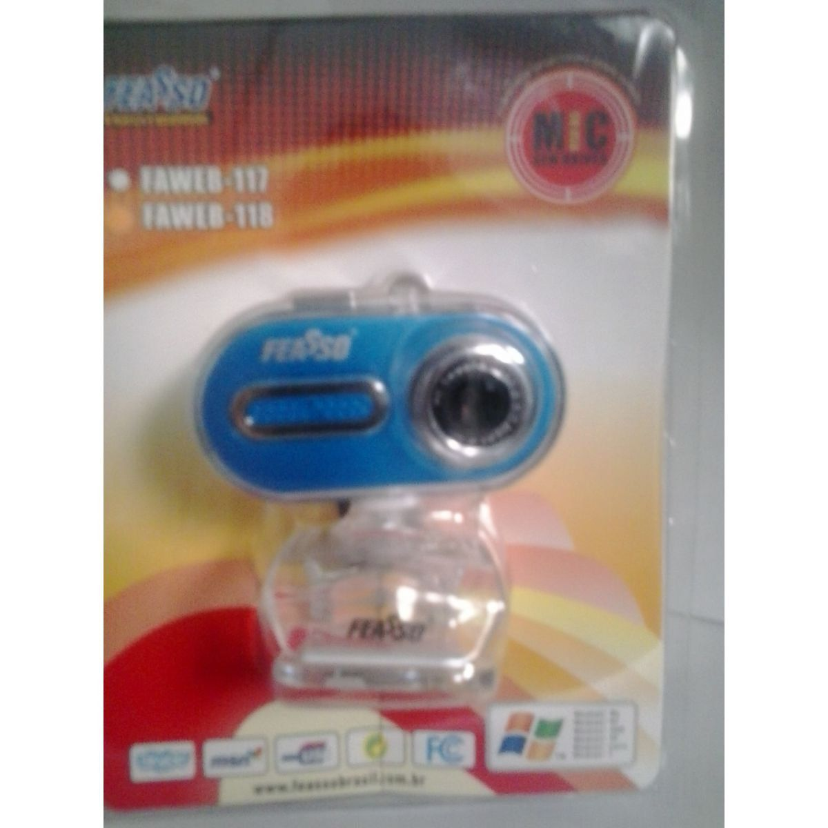 Webcam 1.3m Feasso Faweb118 Rosa